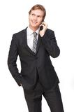 Friendly Business Man Talking on the Phone Stock Photo