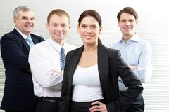 Friendly business team royalty free stock photos