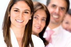 Friendly business team Stock Images