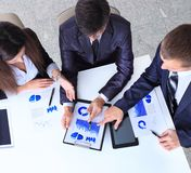 Friendly business team having meeting Royalty Free Stock Photo
