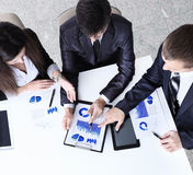 Friendly business team having meeting in the office Royalty Free Stock Photo