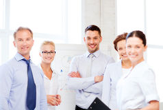 Friendly business team in office Royalty Free Stock Photo