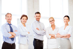 Friendly business team in office Royalty Free Stock Images