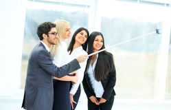 Friendly business team in presentation Stock Photo