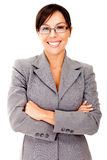 Friendly business woman Stock Image