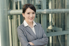 Friendly business woman of Asian with copyspace Royalty Free Stock Photo
