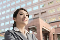 Friendly business woman of Asian with copyspace Stock Photos