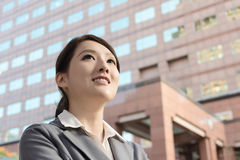 Friendly business woman of Asian with copyspace Royalty Free Stock Photos