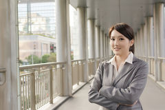 Friendly business woman of Asian with copyspace Stock Photography