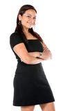 Friendly business woman portrait Stock Images