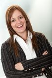 Friendly business woman portrait Royalty Free Stock Images