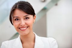 Friendly business woman portrait Royalty Free Stock Image