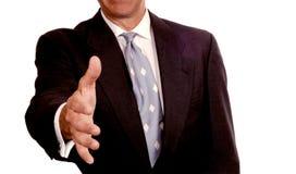Friendly businessman Stock Images