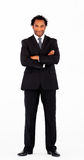 Friendly businessman with crossed arms Royalty Free Stock Photography