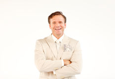 Friendly businessman with crossed arms Royalty Free Stock Image