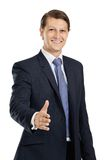Friendly businessman handshake Stock Photo
