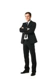 Friendly businessman looking at camera isolated Stock Photography