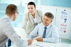 Friendly businesspeople Stock Photography