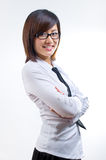 Friendly businesswoman. Picture of friendly asian businesswoman Royalty Free Stock Photos