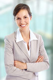 Friendly businesswoman Stock Photos