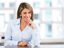 Friendly businesswoman Royalty Free Stock Image