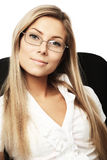 Friendly businesswoman Stock Images