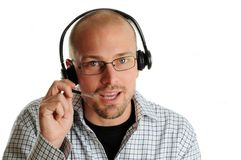 Friendly Call Center Agent Stock Photos