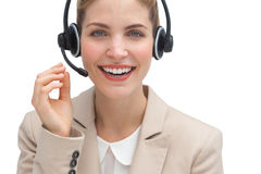 Friendly call center agent Royalty Free Stock Images
