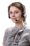 Friendly call center operator Stock Images