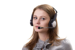 Friendly call center operator Stock Image