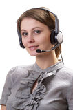 Friendly call center operator Royalty Free Stock Photos