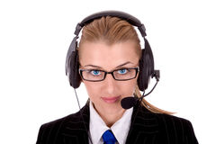 Friendly call center operator Stock Photos