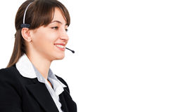 Friendly call-center representative Stock Photos