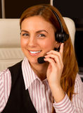 Friendly Call-Center Representative Royalty Free Stock Images