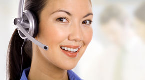 Friendly Call-Center Representative Royalty Free Stock Photo