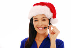 Friendly call centre worker Royalty Free Stock Photos
