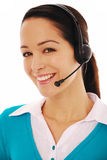 Friendly call operator Royalty Free Stock Photo