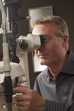 Friendly caring optometrist Stock Image