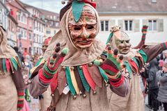 Street carnival in southern Germany - Black Forest royalty free stock images