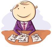 Friendly cartoon clerk Stock Photo