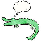 Friendly cartoon crocodile Stock Images