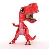 Friendly Cartoon Dinosaur Royalty Free Stock Photography