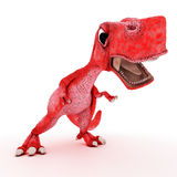 Friendly Cartoon Dinosaur Stock Image