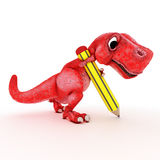 Friendly Cartoon Dinosaur Stock Photography