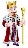 Friendly Cartoon King Pointing Stock Image