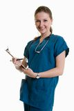 Friendly caucasian blonde healthcare worker Stock Photo