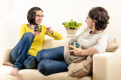 Friendly chat living room Royalty Free Stock Image