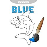 The friendly cheerful kind smiling shark - Page of a coloring royalty free illustration