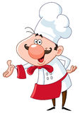 Friendly chef vector illustration
