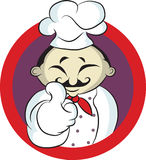 Friendly Chef  smiling thumbs up and wearing uniform. Stock Photos